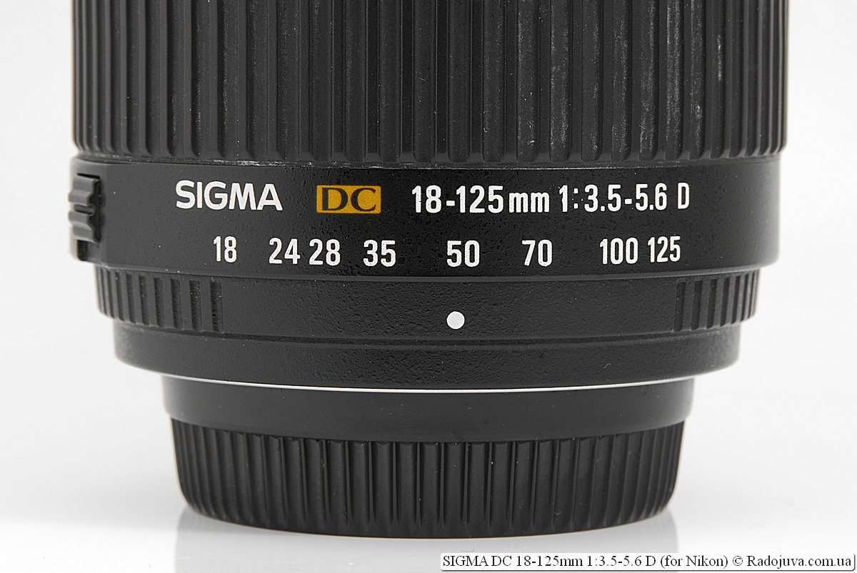 SIGMA DC 18-125mm 1:3.5-5.6 D