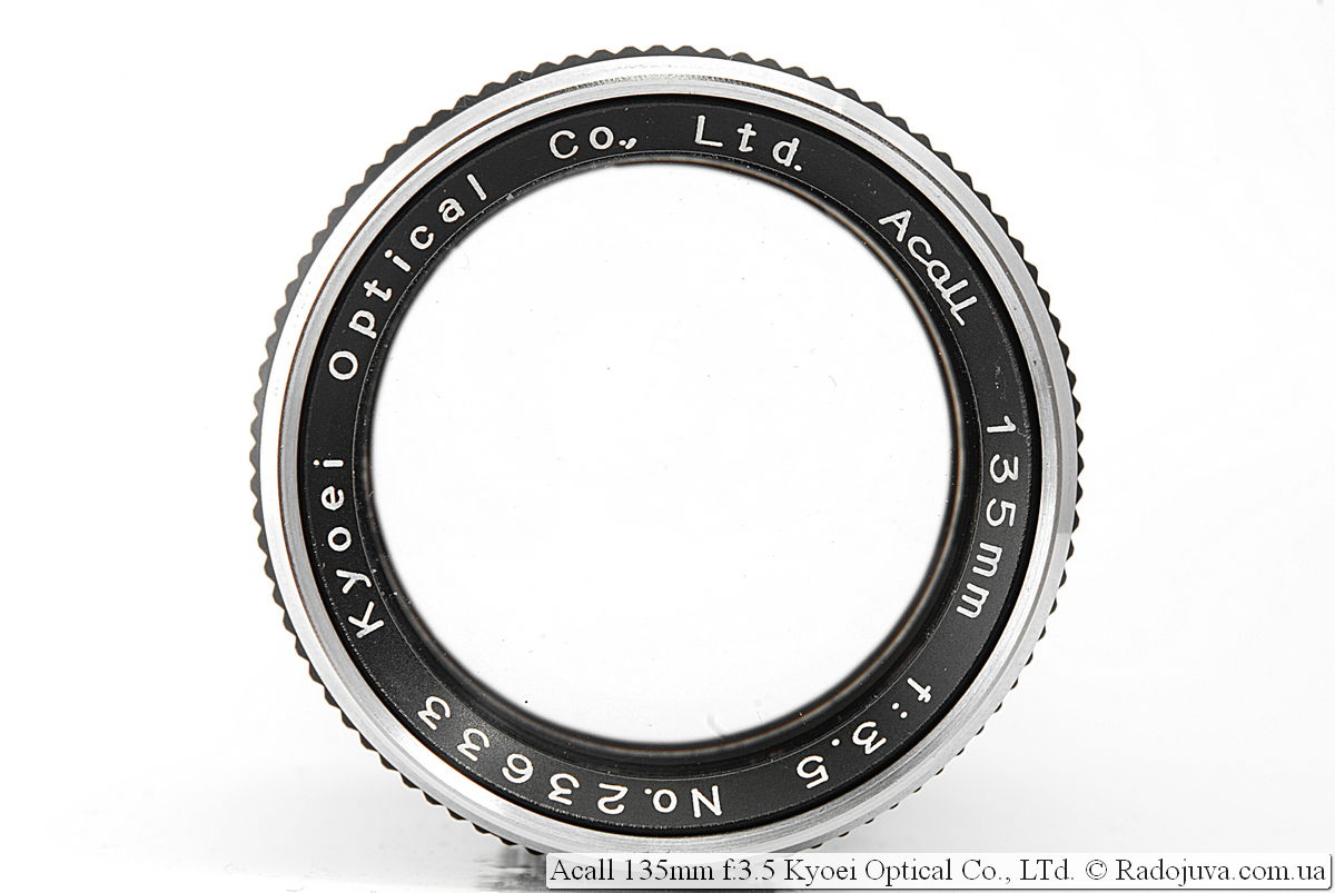 Acall 135mm f:3.5 Kyoei Optical Co., LTd.
