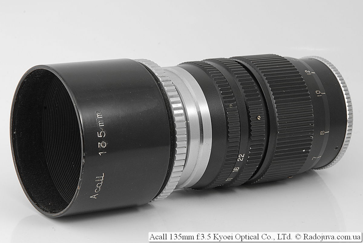 Acall 135mm f:3.5 Kyoei Optical Co., LTd.