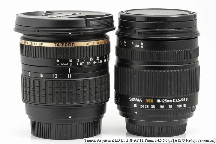 Tamron Aspherical LD DI II SP AF 11-18mm 1:4.5-5.6 [IF] A13 и SIGMA DC 18-125mm 1:3.5-5.6 D Macro