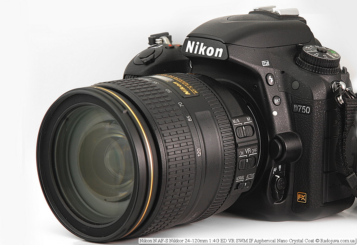Nikon N AF-S Nikkor 24-120mm 1:4G ED VR SWM IF Aspherical Nano Crystal Coat на камере Nikon D750