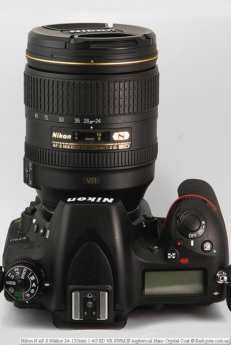Nikon N AF-S Nikkor 24-120mm 1:4G ED VR SWM IF Aspherical Nano Crystal Coat на камере Nikon D750