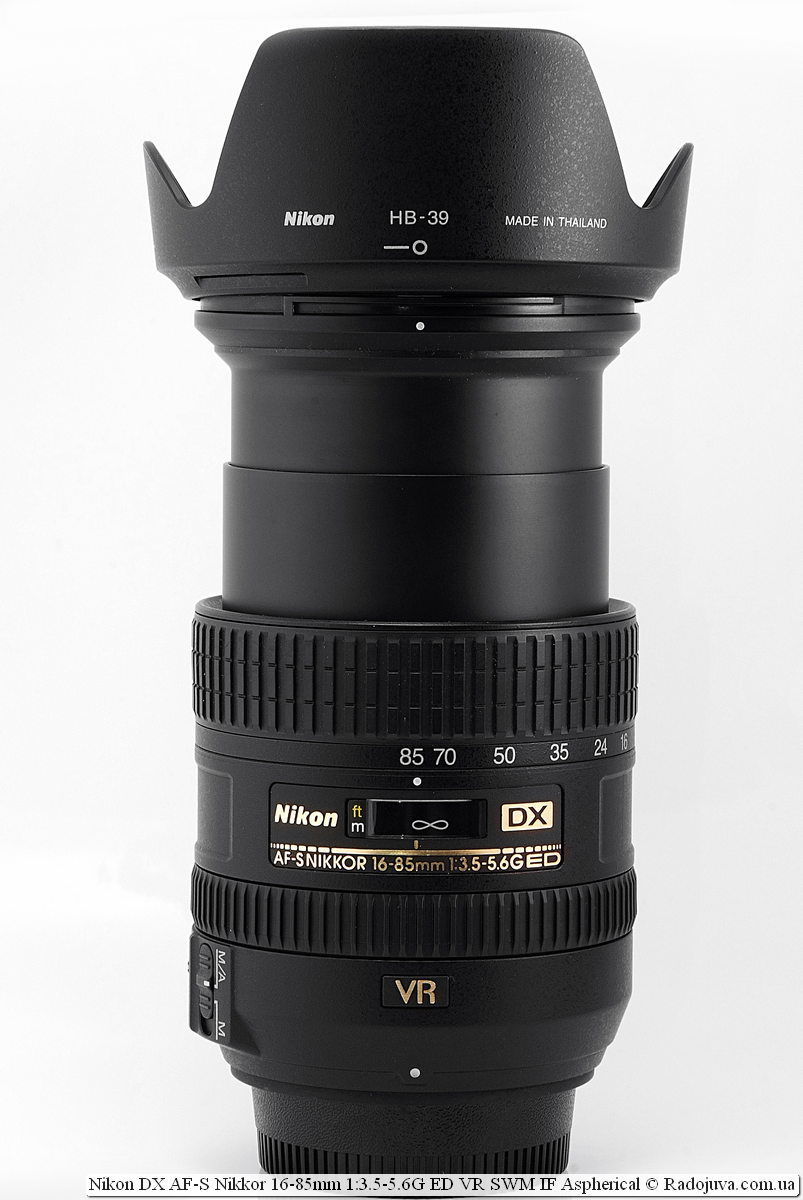 Nikon DX AF-S Nikkor 16-85mm 1:3.5-5.6G ED VR SWM IF Aspherical