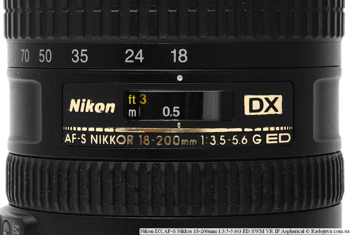 Nikon DX AF-S Nikkor 18-200mm 1:3.5-5.6G ED SWM VR IF Aspherical