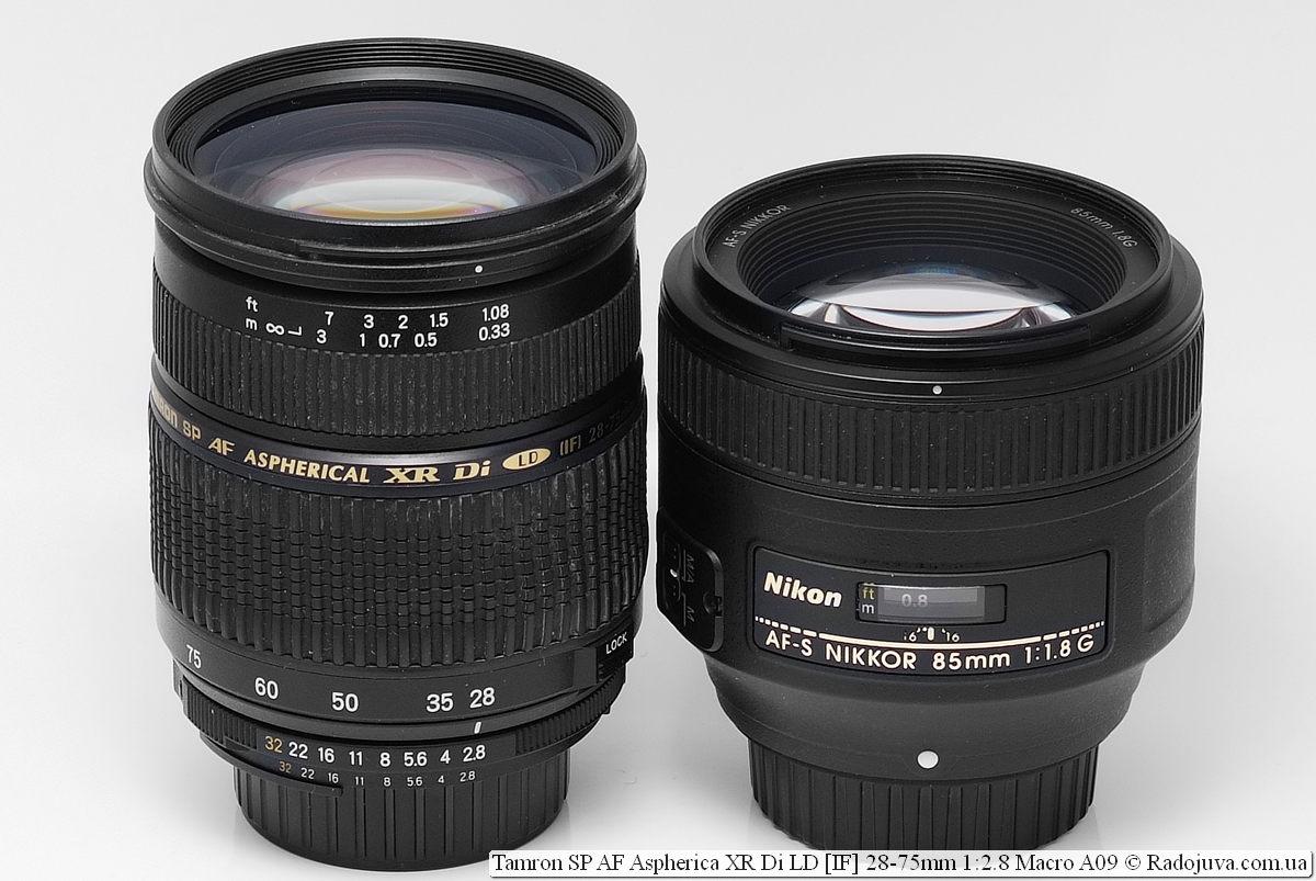 Tamron SP AF Aspherical XR Di LD [IF] 28-75mm 1:2.8 Macro A09 и Nikon AF-S Nikkor 85mm 1:1.8G IF SWM