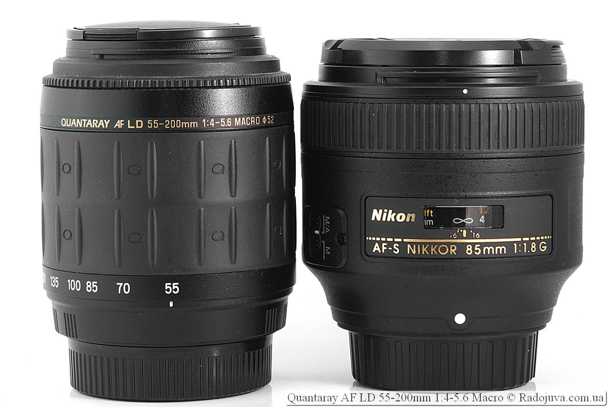 Quantaray 55-200 mm F4-5.6 Macro AF LD и Nikon AF-S Nikkor 85mm 1:1.8G SWM IF
