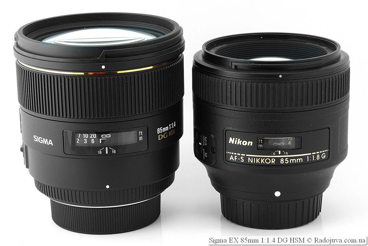SIGMA AF 85 mm f/1.4 EX DG HSM и Nikon AF-S Nikkor 85mm 1:1.8G IF SWM