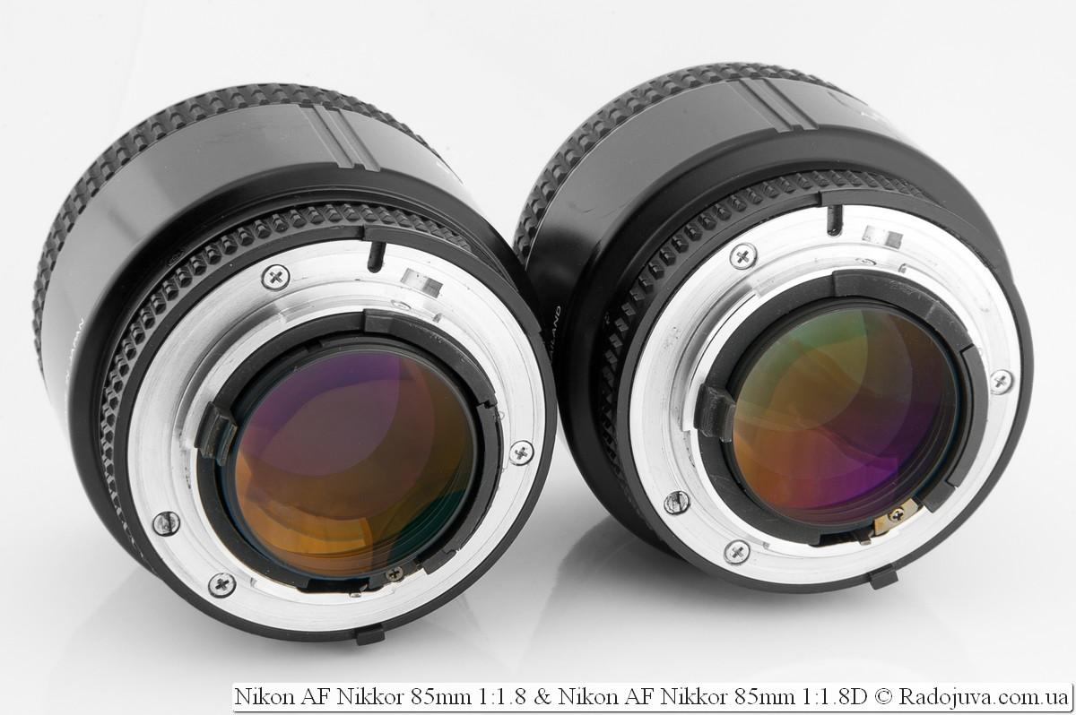 Nikon AF Nikkor 85mm 1:1.8 и Nikon AF Nikkor 85mm 1:1.8D