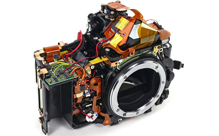 Внутреннее строение фотоаппарата