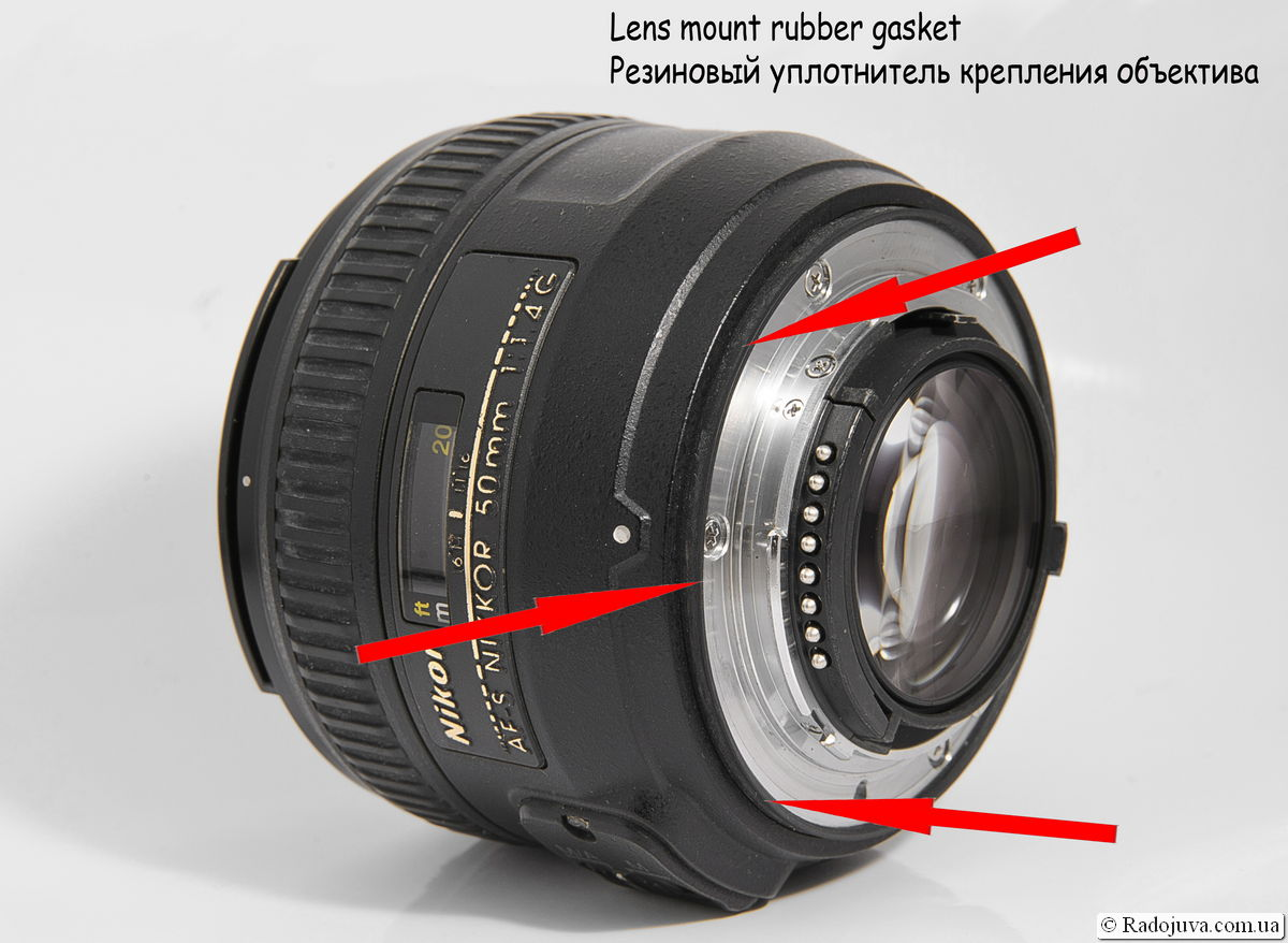 Резиновый уплотнитель байонета объектива Nikon 50mm 1:1.4G AF-S Nikkor SWM