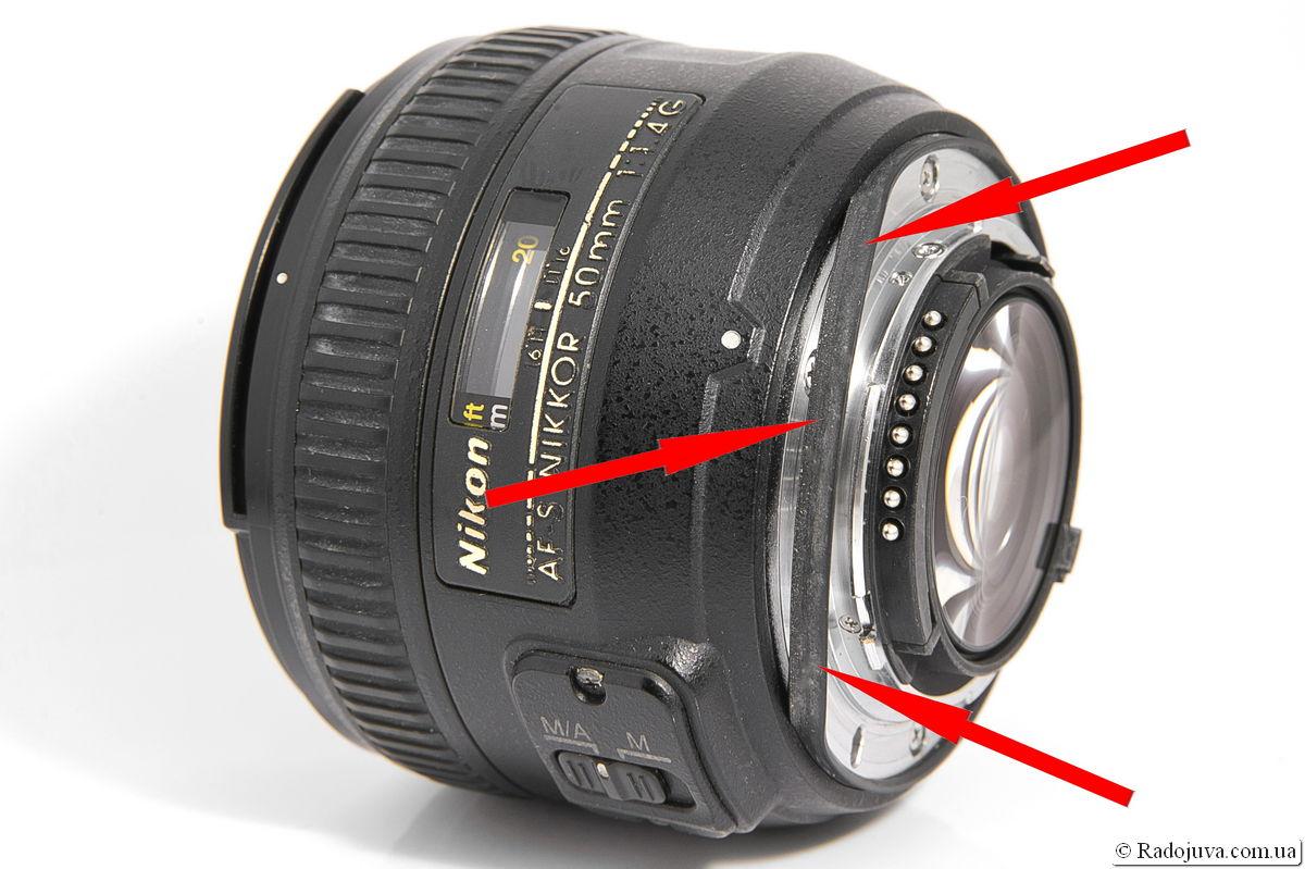 Резиновый уплотнитель крепления объектива Nikon 50mm 1:1.4G AF-S Nikkor SWM