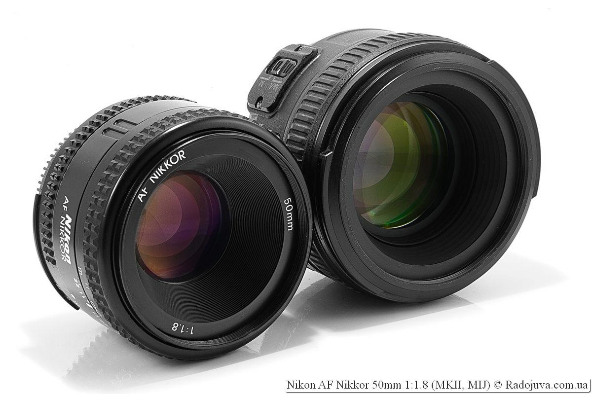 Nikon AF Nikkor 50mm 1:1.8 (версия MKII, MIJ) т Nikon AF-S Nikkor 50mm 1:1.4G SWM