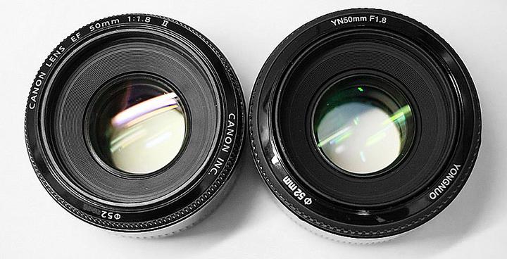 Canon Lens EF 50mm 1:1.8 II и YONGNUO LENS EF 50mm 1:1.8