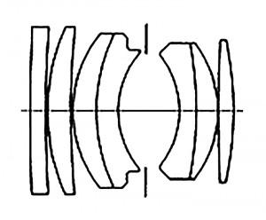 Оптическая схема Nikon 50mm S F2