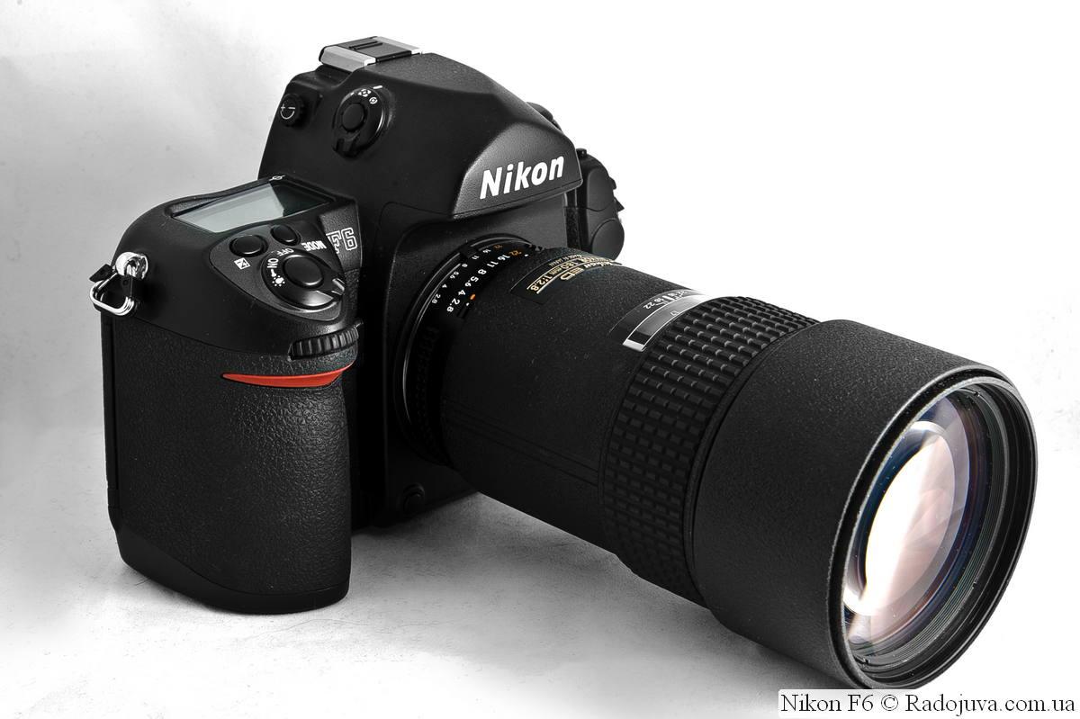 Nikon F6 с объективом Nikon 180mm 1:2.8 ED AF Nikkor MKIII