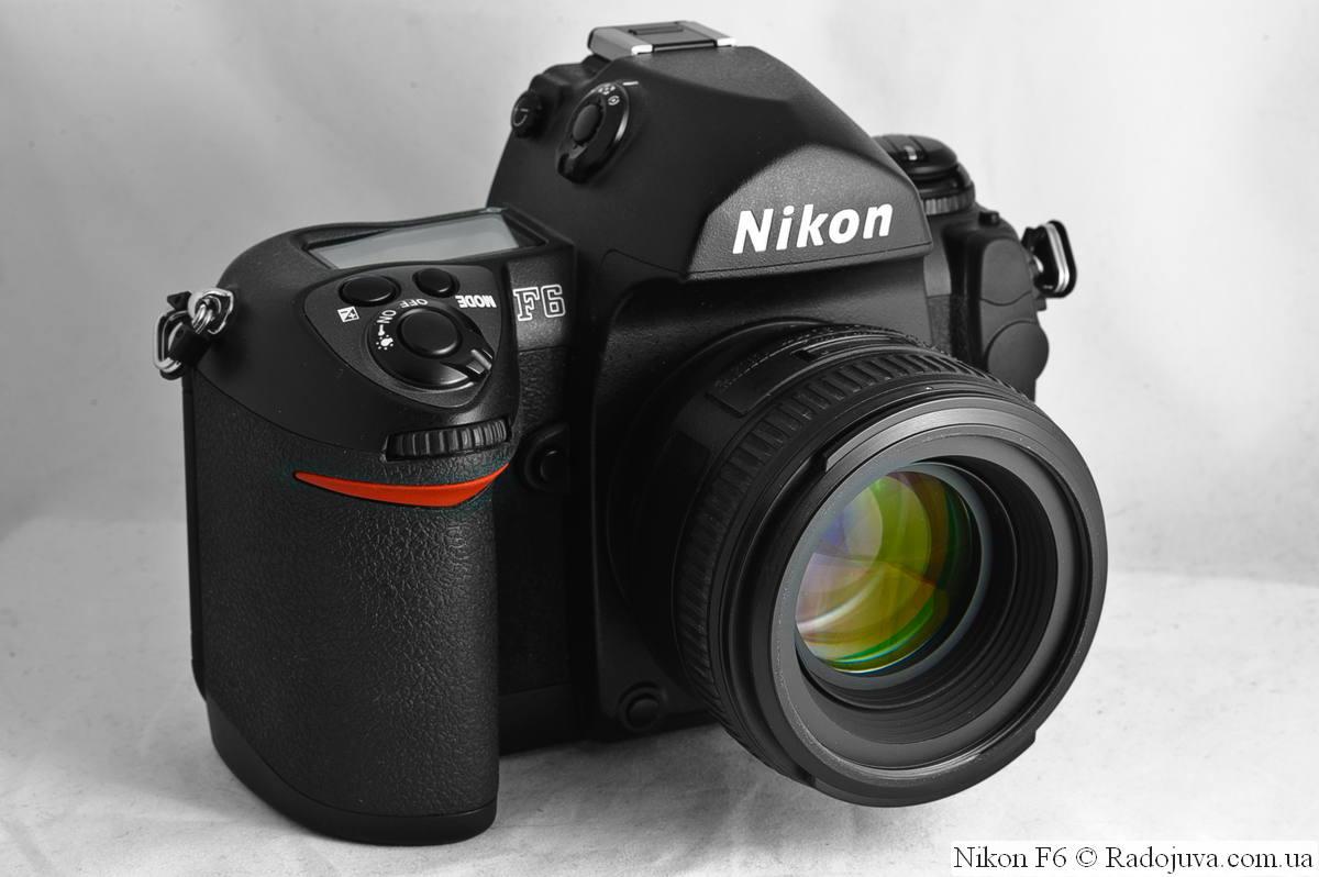 Nikon F6 с объективом Nikon AF-S Nikkor 50mm 1:1.4G SWM