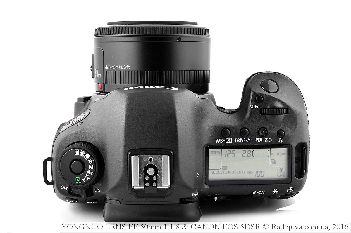 YONGNUO LENS EF 50mm 1:1.8 на фотоаппараате Canon 5DSR