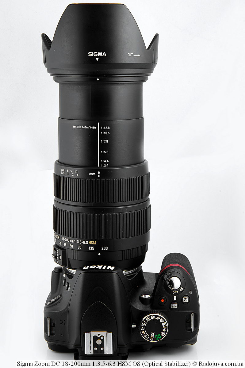 Sigma 18-200mm f / 3.5-6.3 on the Nikon D3200 camera