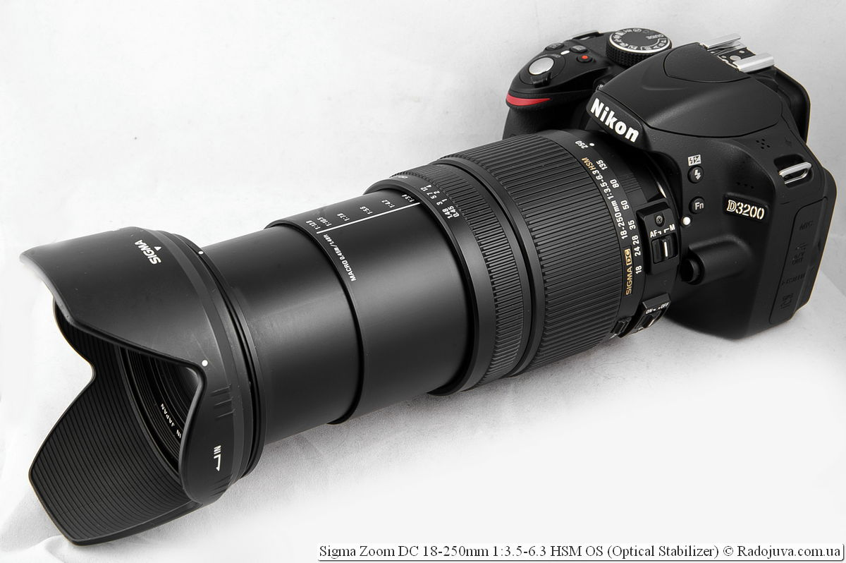 Sigma Zoom DC 18-250mm 1: 3.5-6.3 HSM OS on the Nikon D3200