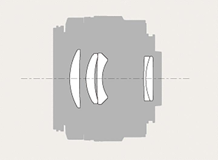 Оптическая схема Sony 85mm f/2.8 SAM (SAL85f28)