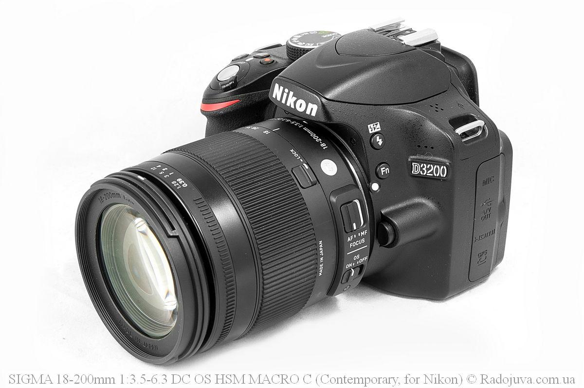 Sigma C 18-200mm F/3.5-6.3 DC HSM (Contemporary), вид на камере Nikon DX - D3200