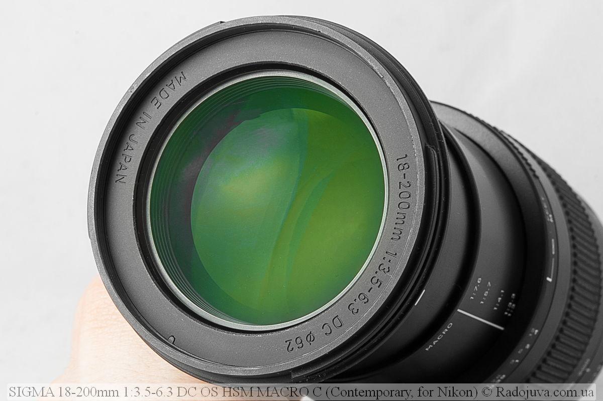 Просветление оптики Sigma C 18-200mm F/3.5-6.3 DC HSM (Contemporary)