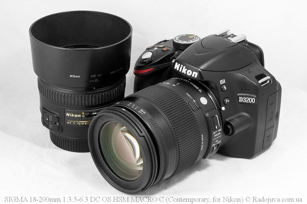 Sigma C 18-200mm F/3.5-6.3 DC HSM (Contemporary) на камере Nikon D3200