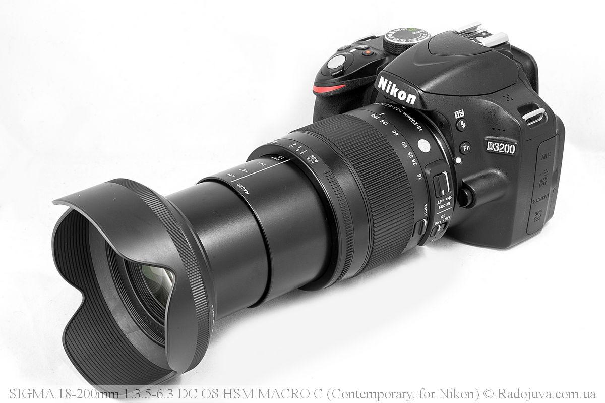Максимальная длина объектива Sigma C 18-200mm F/3.5-6.3 DC HSM (Contemporary)