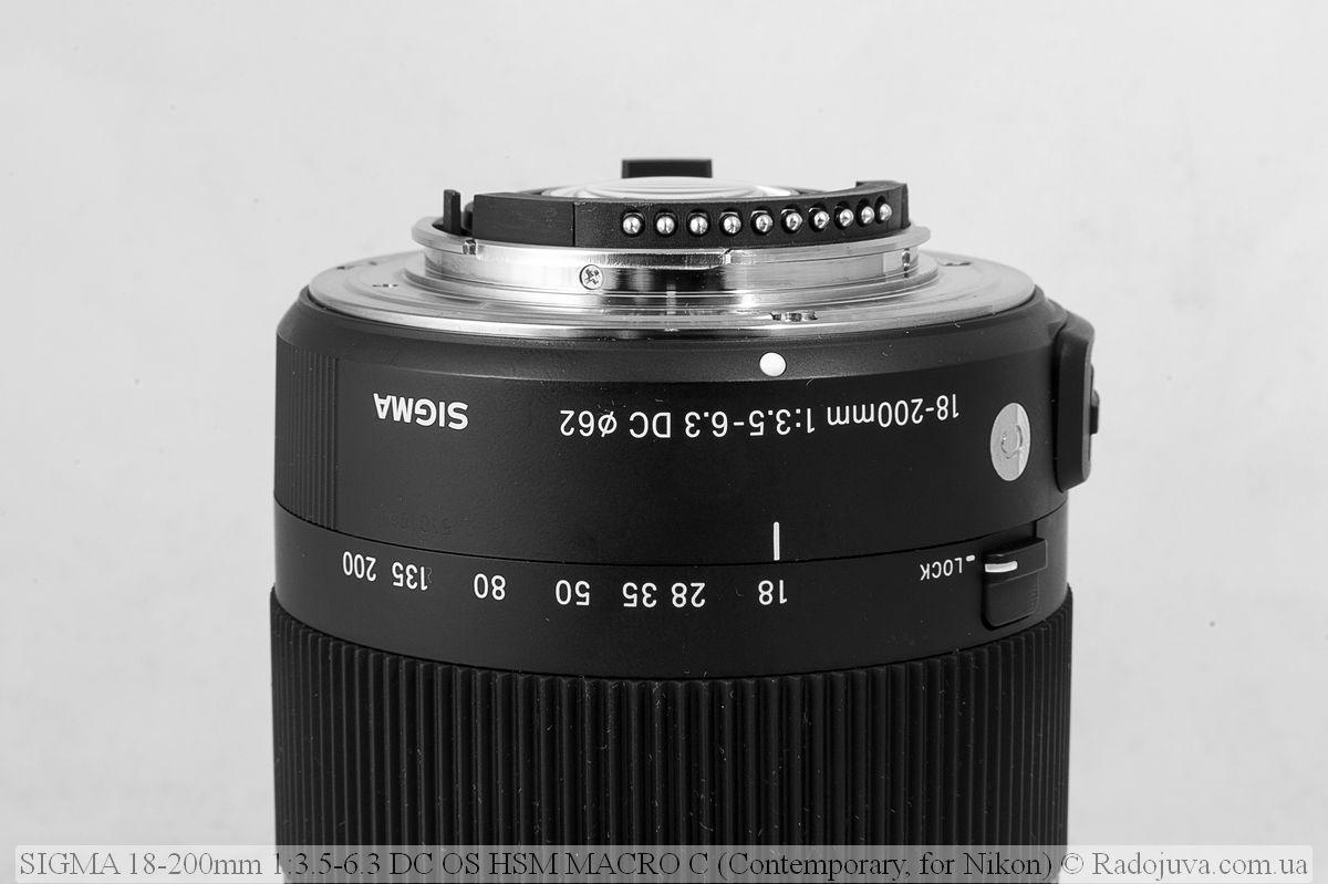 Sigma C 18-200mm F/3.5-6.3 DC HSM (Contemporary), контакты микропроцессора