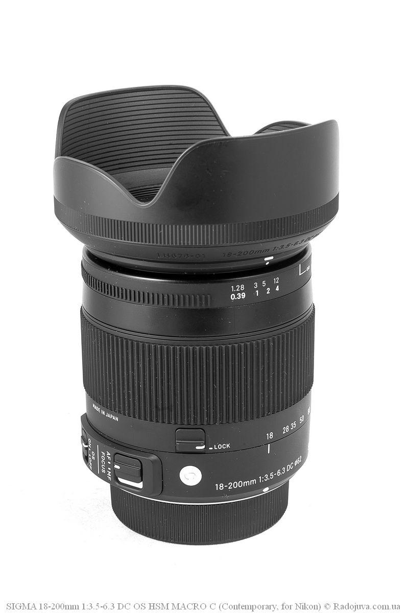 Sigma C 18-200mm F/3.5-6.3 DC HSM (Contemporary) с блендой
