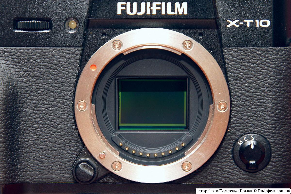 органы управления Fujifilm Finepix X-T10 (вокруг байонета)