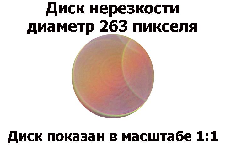 Выбранный диск нерезкости