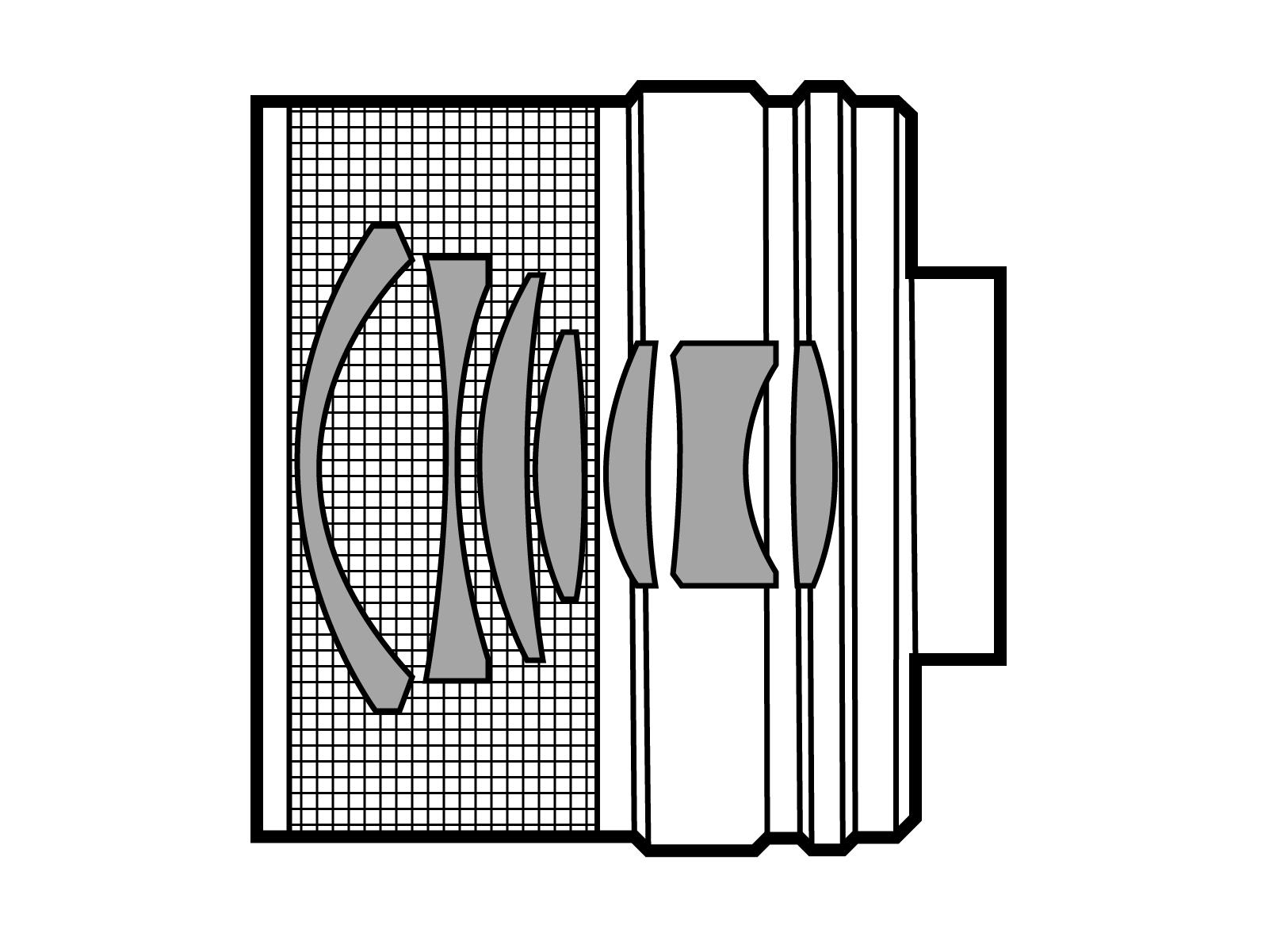 Оптическая схема Tamron Adaptall-2 35-70mm F3.5 CF Macro (17A)