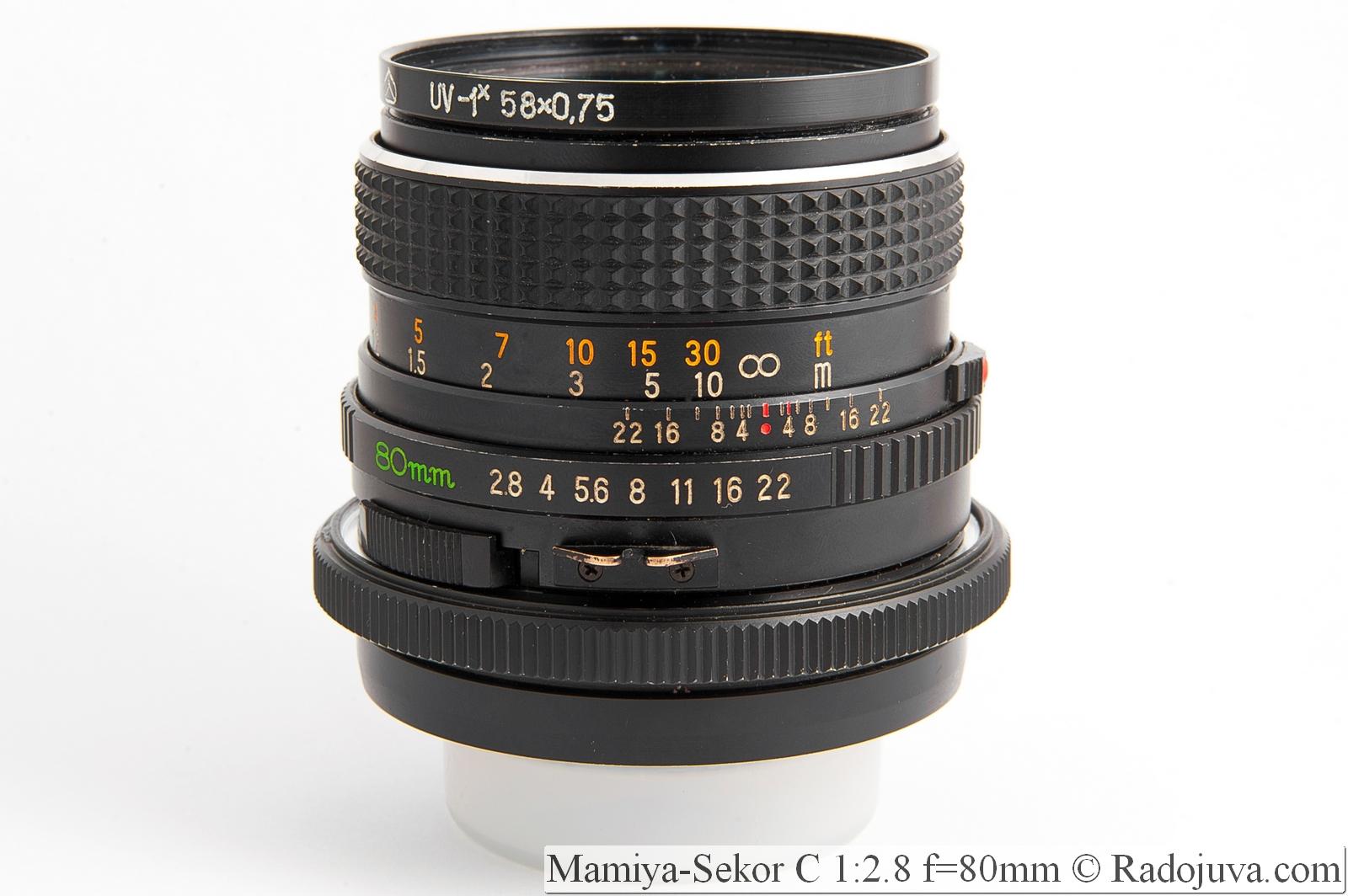 Mamiya-Sekor C 1:2.8 f=80mm
