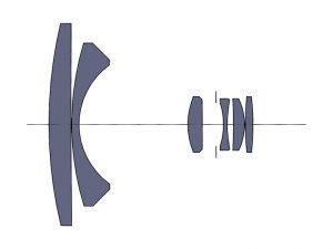 Оптическая схема NIKON NIKKOR-H Auto 1:3.5 f=28
