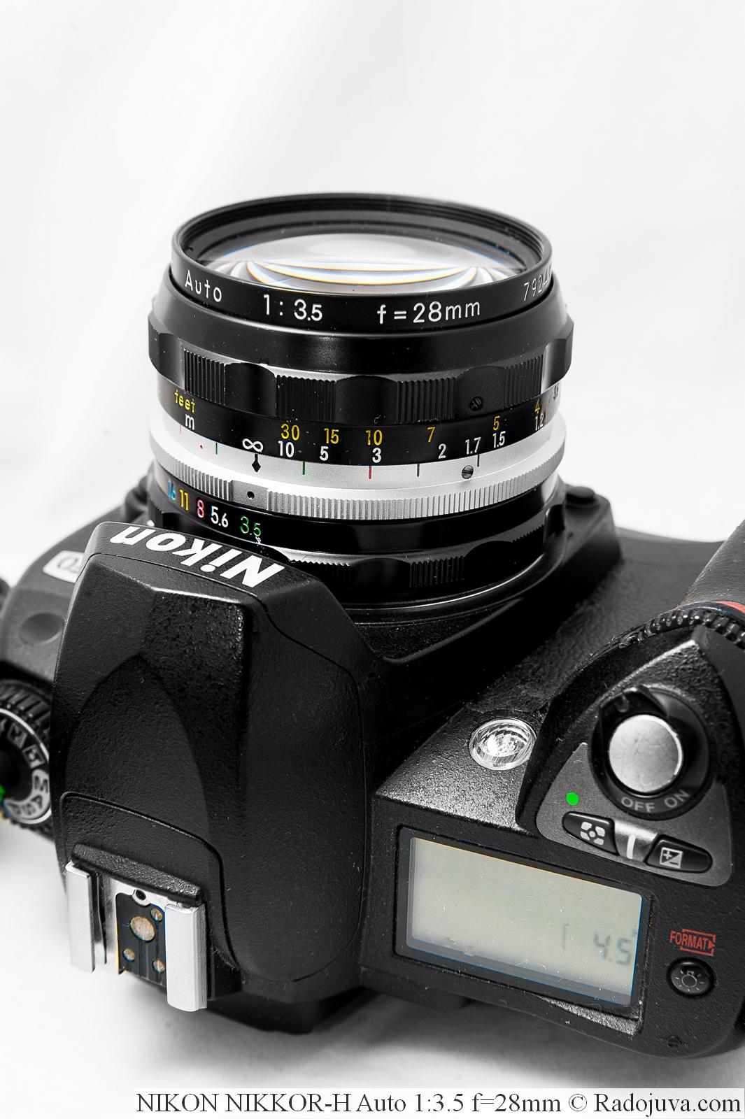 NIKON NIKKOR-H Auto 1:3.5 f=28mm на фотоаппарате Nikon D70