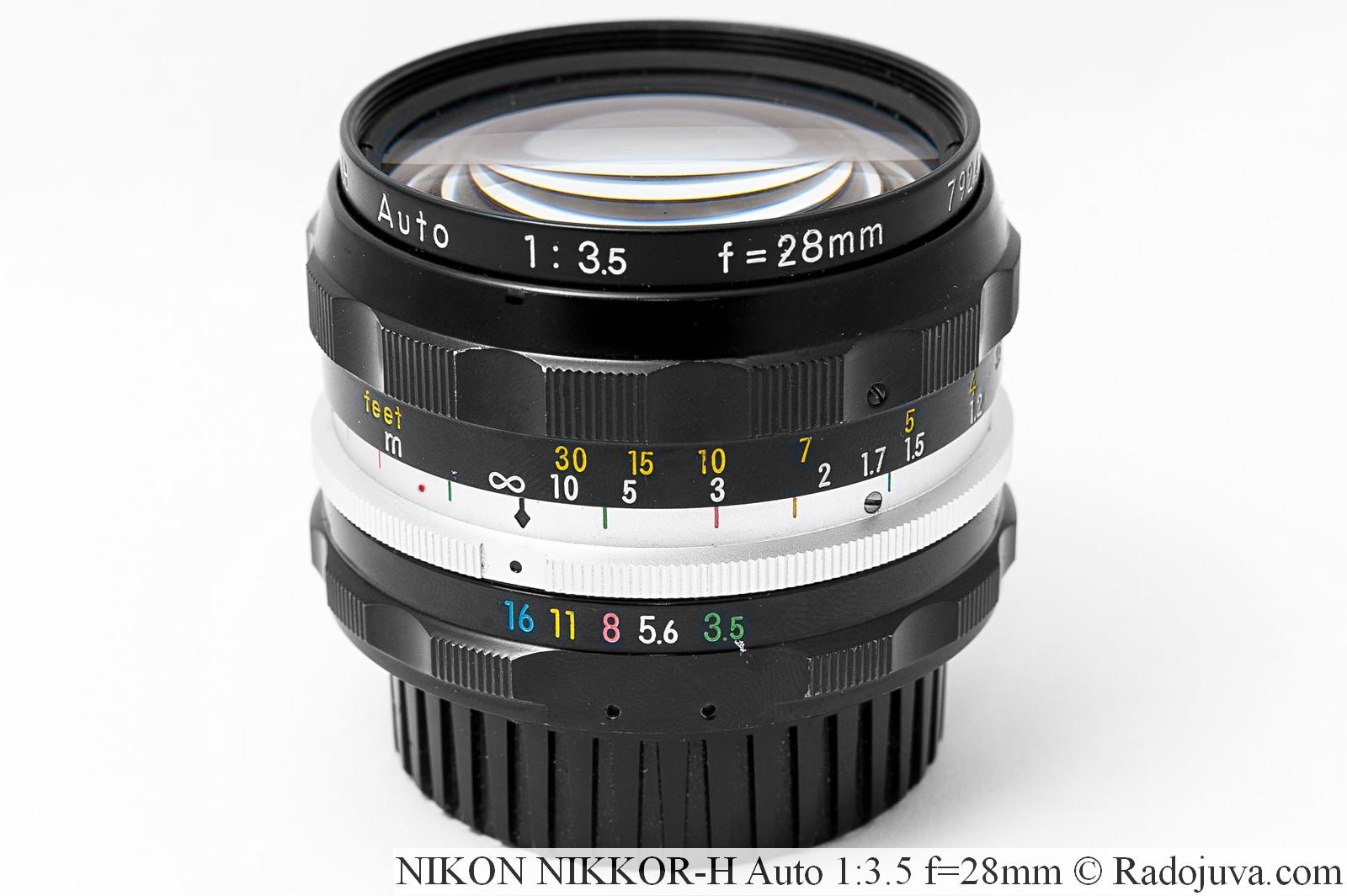 NIKON NIKKOR-H Auto 1:3.5 f=28mm