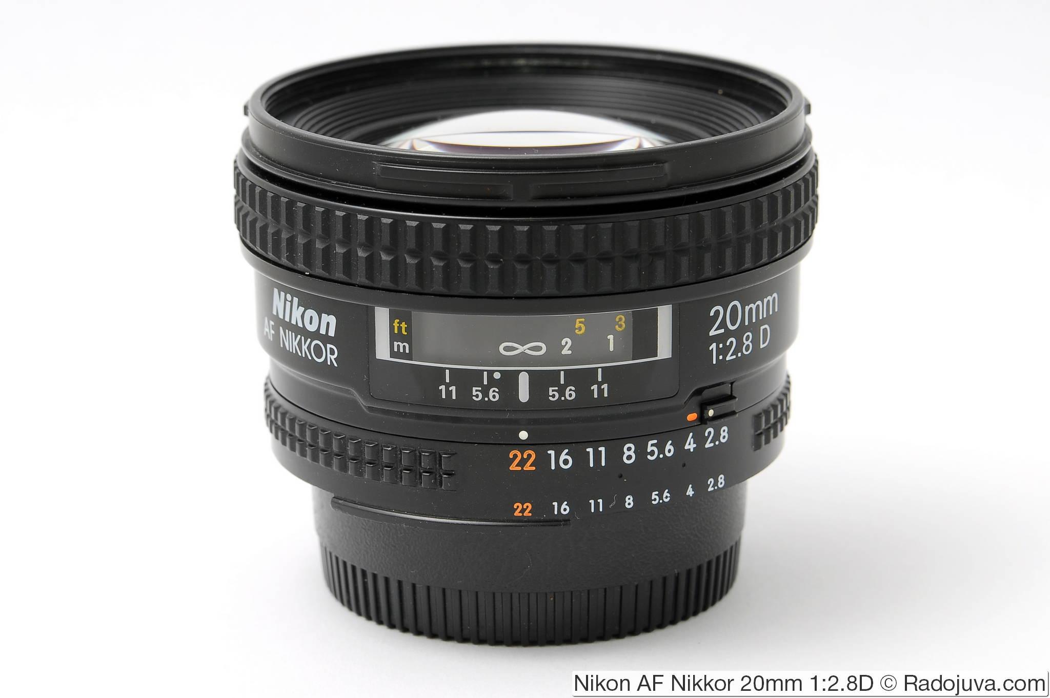 Nikon AF Nikkor 20mm 1: 2.8D