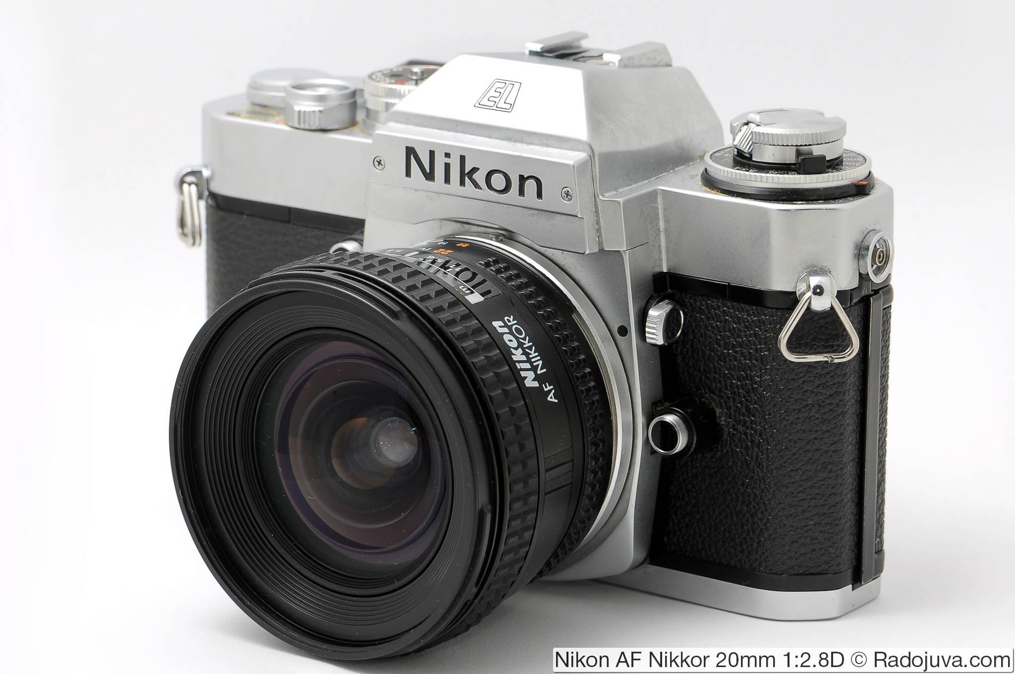 Nikon AF Nikkor 20mm 1:2.8D на пленочной зеркальной камере
