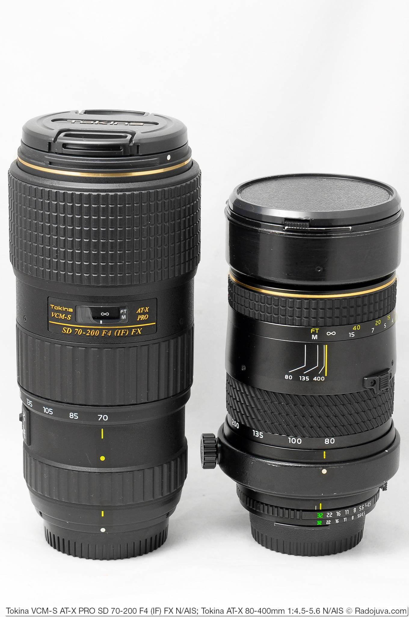 Tokina VCM-S AT-X PRO SD 70-200 F4 (IF) FX и Tokina AT-X 80-400mm 1:4.5-5.6 (AT-X 840 AF-II)