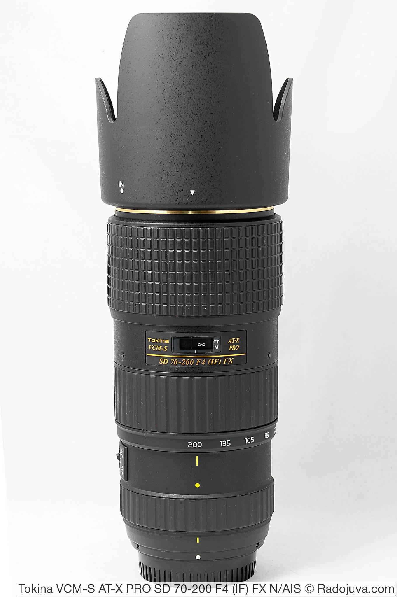 Tokina VCM-S AT-X PRO SD 70-200 F4 (IF) FX с блендой BH-672