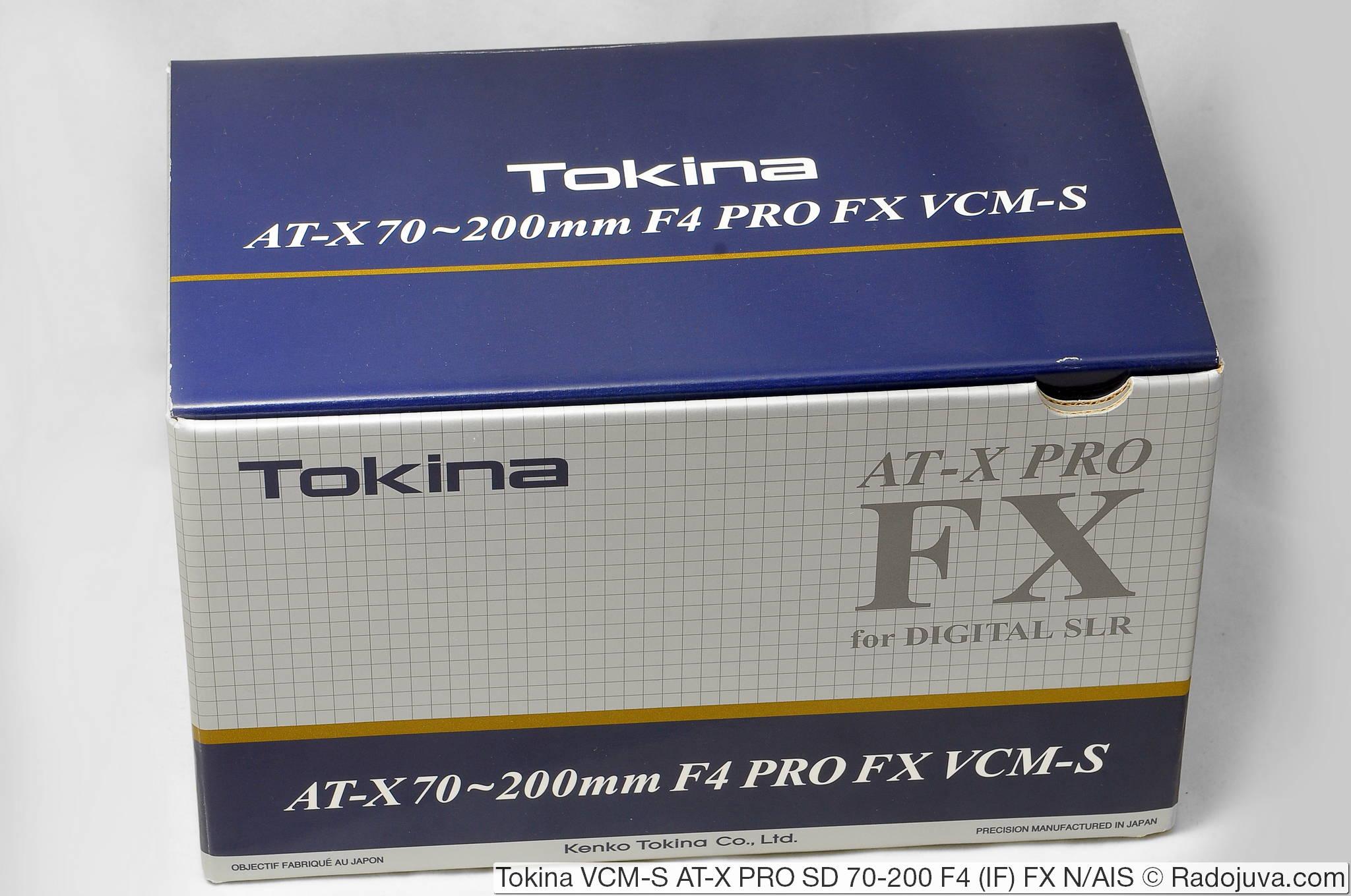 Коробка для Tokina VCM-S AT-X PRO SD 70-200 F4 (IF) FX