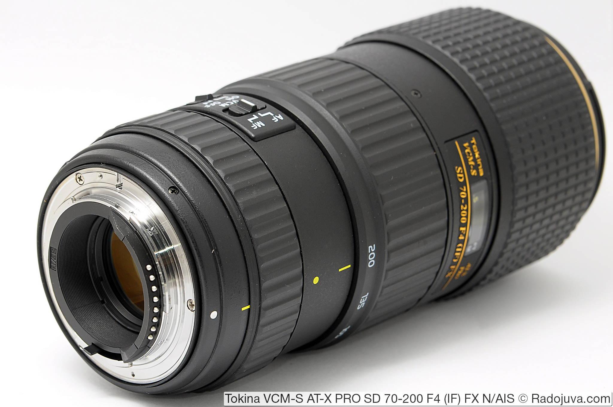 Tokina VCM-S AT-X PRO SD 70-200 F4 (IF) FX