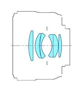 Оптическая схема YONGNUO YN 50mm F1.8