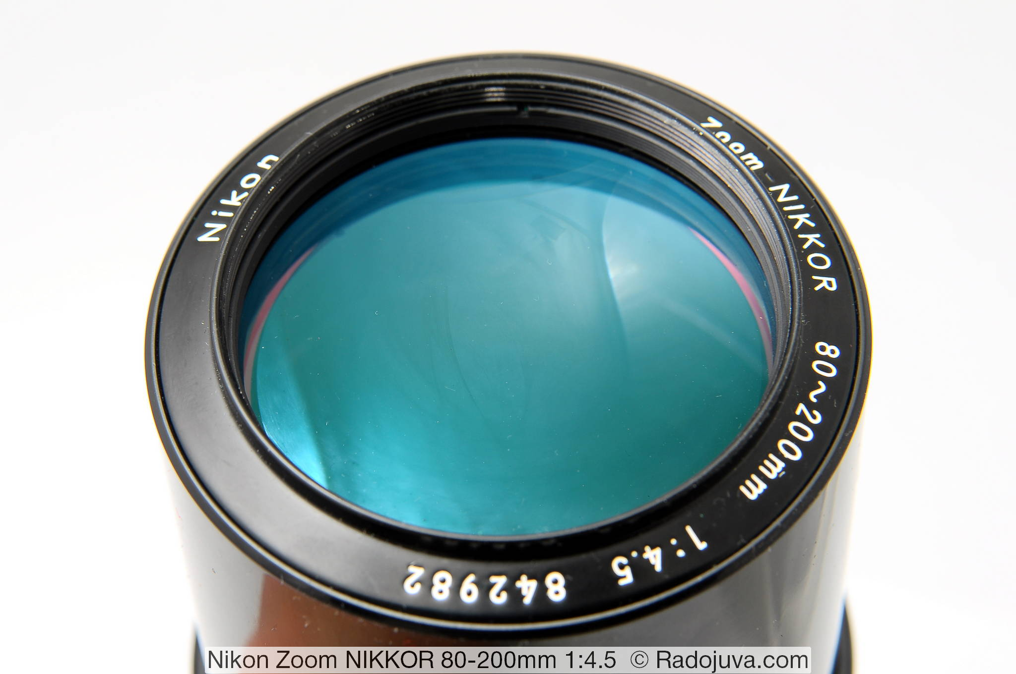Просветление передней линзы Nikon Zoom NIKKOR 80-200mm 1:4.5 (AI, MKII)