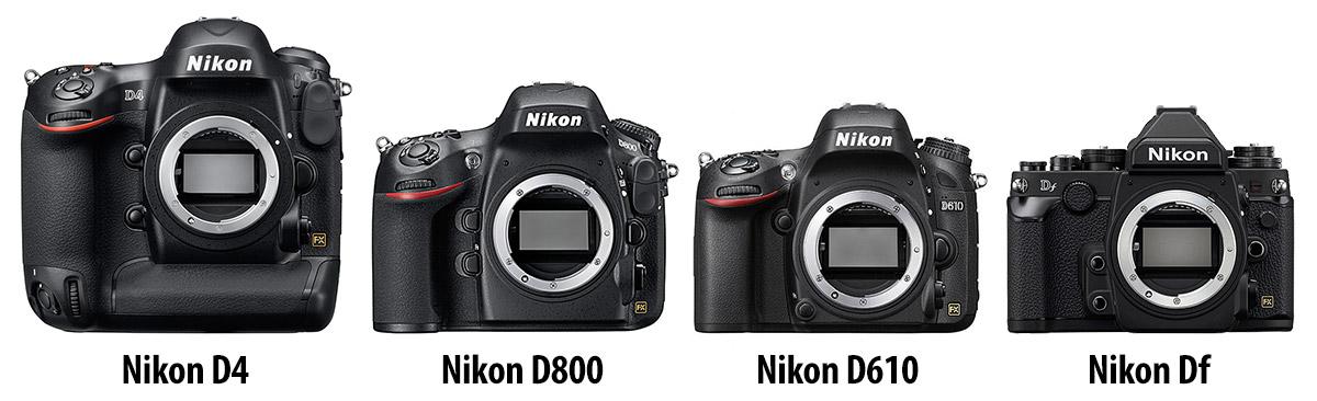Сравнение размеров камер