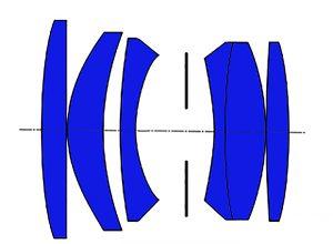 Takumar 55 1.8 оптическая схема