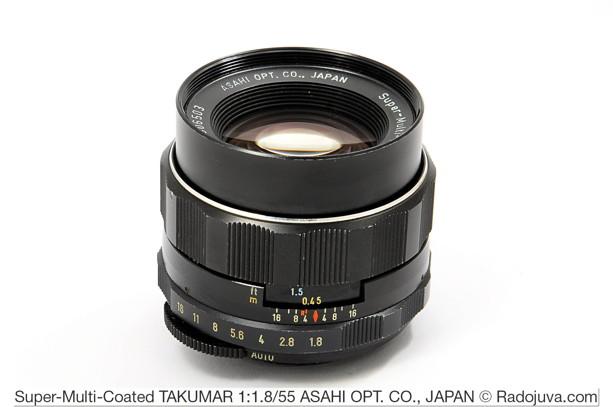 Super-Multi-Coated TAKUMAR 1:1.8/55 ASAHI OPT. CO., JAPAN