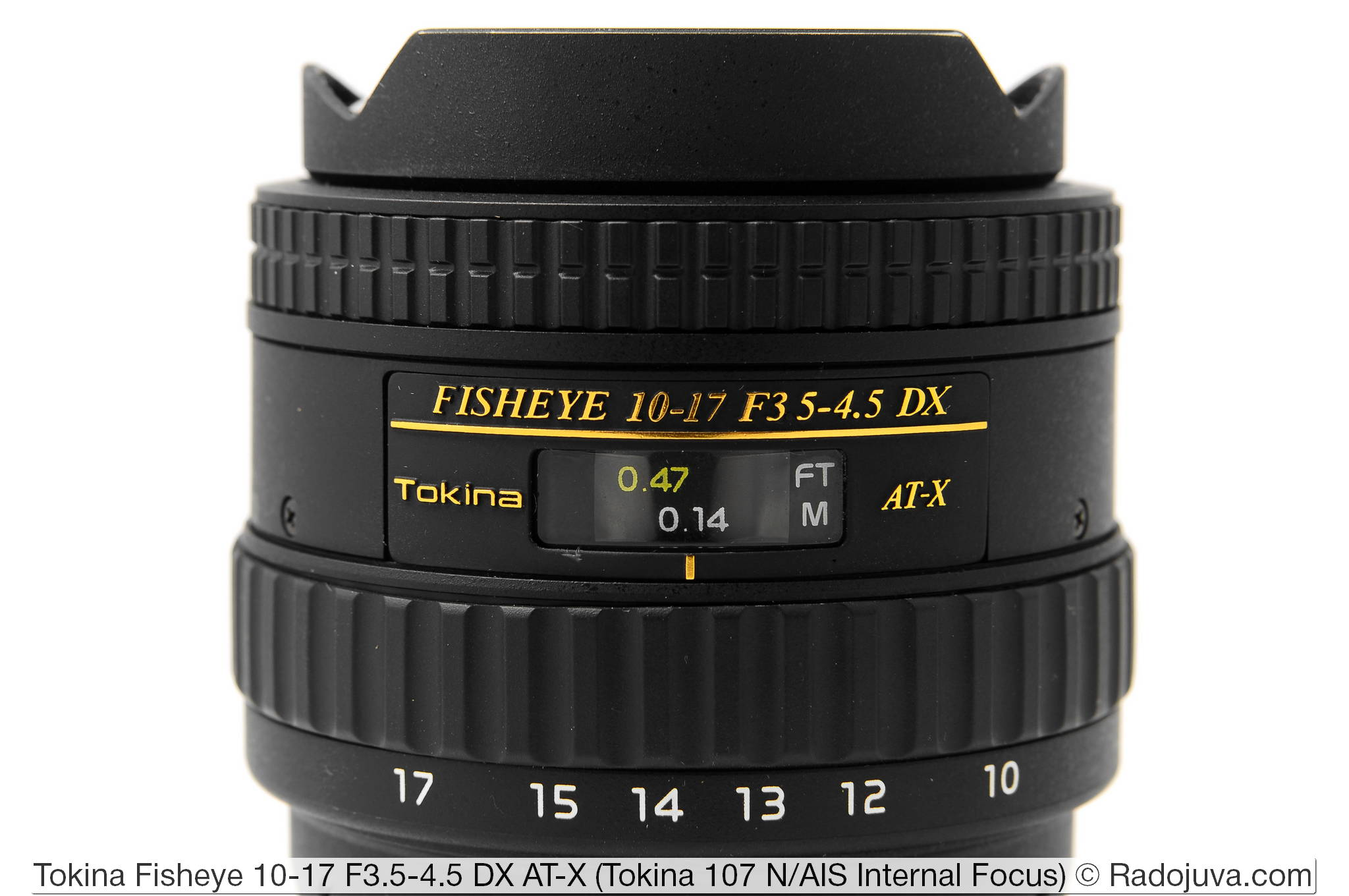 Tokina 107 Fisheye 10-17mm F3.5-4.5 DX AT-X Internal Focus