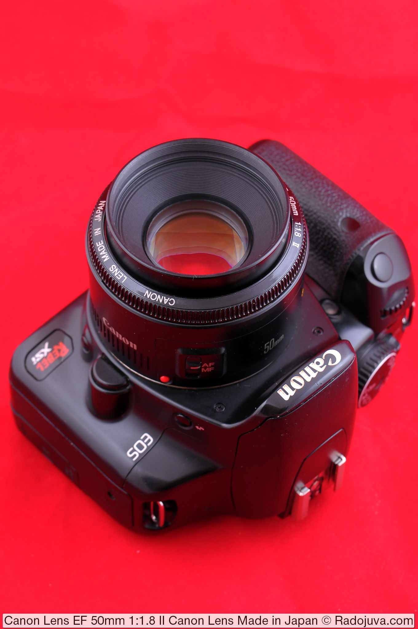 Canon Lens EF 50mm 1:1.8 II, версия 'Canon Lens Made in Japan'